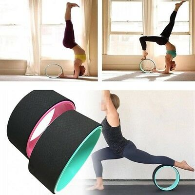 AU Yoga Wheel Health & Fitness Extra Strength Prop ABS+TPE Material 33cmx13cm
