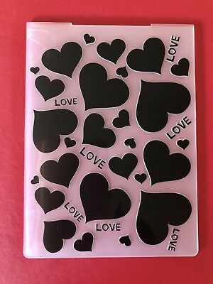 NEW• LOVE & HEARTS EMBOSSING FOLDER For Cuttlebug Or Sizzix