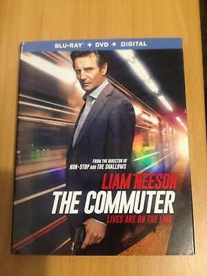 The Commuter Bluray Dvd+Digital Copy Include Slipcover