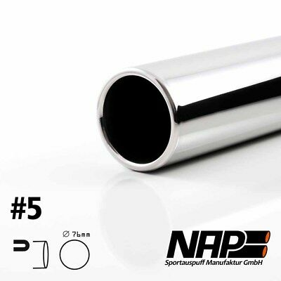 Nap Weld-On End Pipe 0 1/32x2.99in Rolled Edge with Abe Stainless Steel