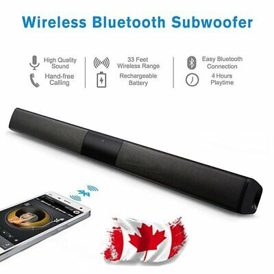 20W TV Home Theater Soundbar Bluetooth Sound Bar Speaker Box Loudspeaker CANADA