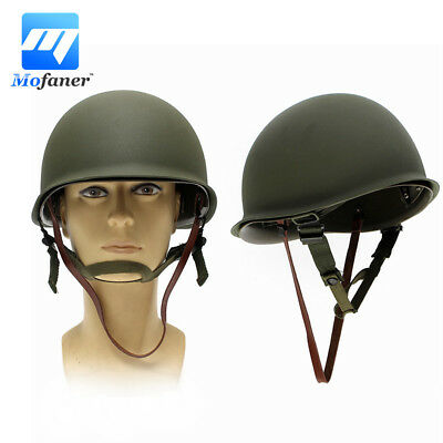 Green WW2 USA Military Steel ABS M1 Helmet Cover WWII Army Equipment Camo Band