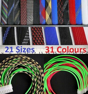 Various Sizes & Colors Braided Cable Sleeving -Auto Wire Harnessing -Sheathing
