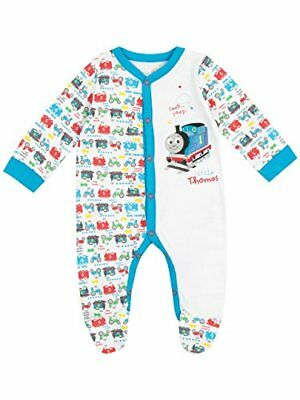 Thomas  Friends Baby Boys Thomas The Tank Engine Sleepsuit Age 0 to 3 Months