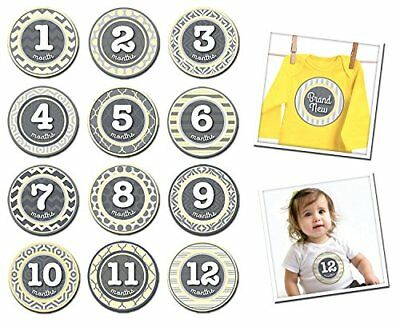 Sticky Bellies Baby Month Milestone Stickers Patterned Peanut