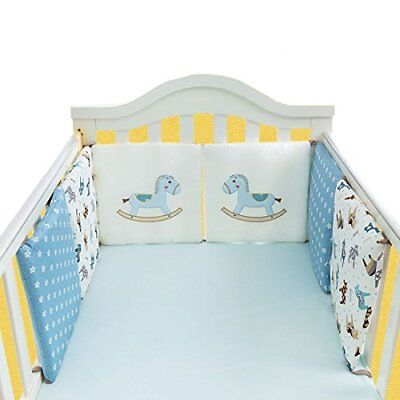 Xianheng Baby Cot Bed Bumper Cotton 6 PCS Safer Crib Sided Bumpers Bedding Sets