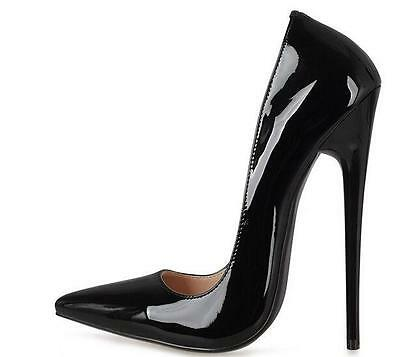 Womens Super High Heel 16cm Pumps Pointed Toe Stilettos Patent Leather Shoes