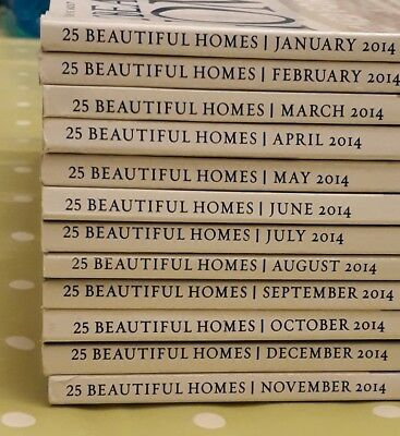 25 Beautiful Homes Magazine all of 2014 and 19 more 32 mags in total