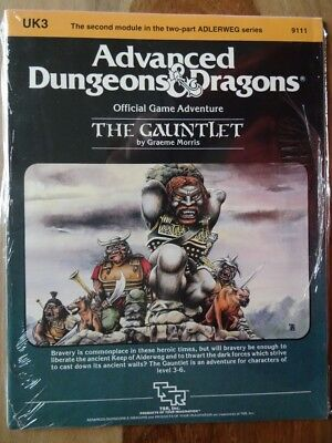 UK3 The Gauntlet -NEW SEALED & still in SHRINK WRAP- AD&D TSR 9111
