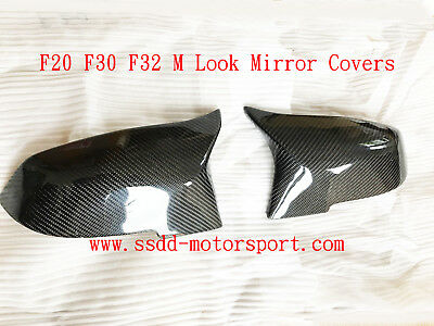 BMW M4 Style Carbon Fibre Replacement Mirror Covers F20 F22 F30 F32 F48 X1