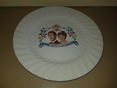 Commemorative Prince Charles Lady Diana wedding plate Genuine Collector's item