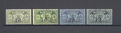 NEW HEBRIDES 1920-21 SG 30/33 USED Cat £98