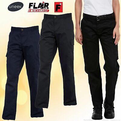 Uneek Ladies Cargo Trousers, UC-905 2-Colour (8-20) Work Wear Causal Top