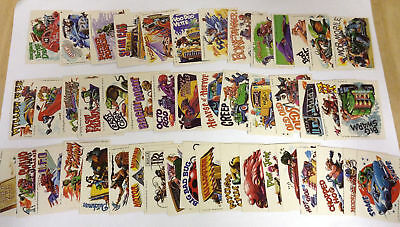 Weird Wheels Sticker - Complete Trading Card Set (55) Topps 1980 - NM