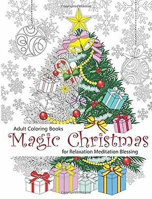 Magic Christmas Adult Colouring Book Relaxation Art Therapy - 9781517098964