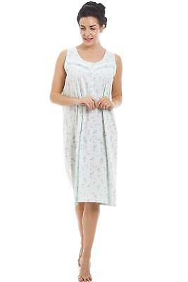 Camille Mint Sleeveless Floral Nightdress