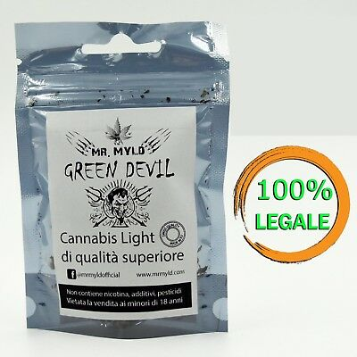 Cannabis Light Legale Mr Myld Green Devil Canapa Sativa Made In Europe