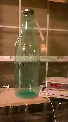 Coca-Cola Plastic  Bottle Piggy Bank- 24 Inches Tall