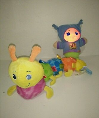 Playskool Soothe & Glo Worm, Taggies Caterpillar excellent condition