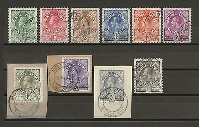 SWAZILAND 1933 SG 10/20 USED Cat £225