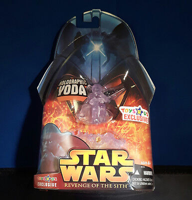 STAR WARS Episode III *** HOLOGRAPHIC YODA *** ROTS / TOYS 'R' US Exclusive OVP