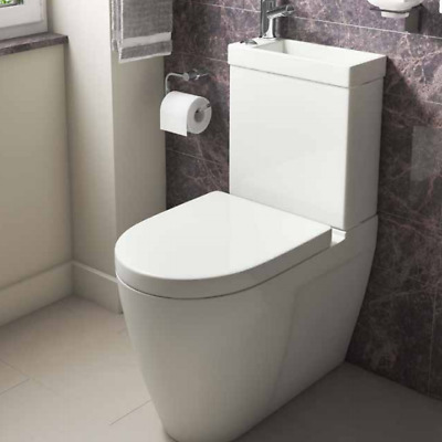 2in1 Combo Combination Toilet Sink Wash Basin Bathroom WC Modern Tap  Included