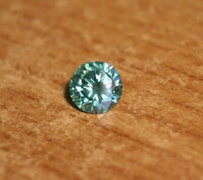 1.28ct Teal Moissanite - Precision Cut - Sea Green/Blue - Slight Chip On Girdle