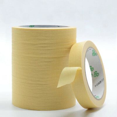 20m Yellow Automotive Refinish Masking Tape width 5mm-100mm Decorating Painting