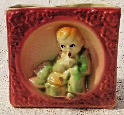 "VINTAGE 1950's SHAWNEE CALIFORNIA POTTERY ""LITTLE JACK HORNER"" WALL POCKET"