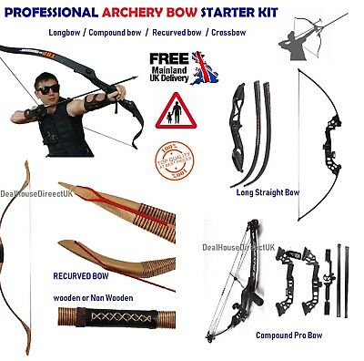 Archery Bow Arrow Longbow Compound Crossbow Diy Adult