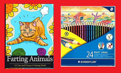 Farting Animals Coloring Book A Cute And Funny Book 24 Pencils