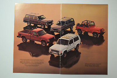 """1989 Jeep Vehicles Brochure-Booklet-Catalog 8"""" by 5""""&3/8ths 16 Pages"""