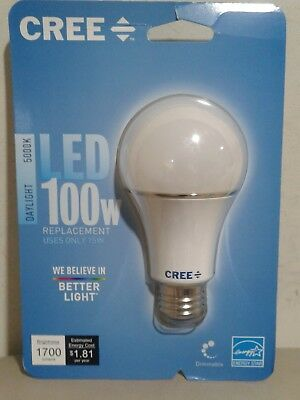 New Seal ! Cree 100W Equivalent Daylight (5000K) A21 Dimmable LED Light Bulb