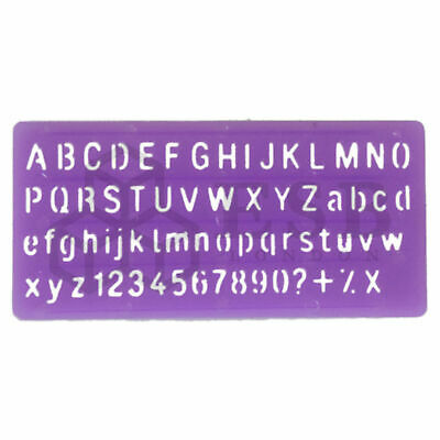 Alphabet Stencil Set Large Small Letters Numbers Kids Children Craft Text 10Mm