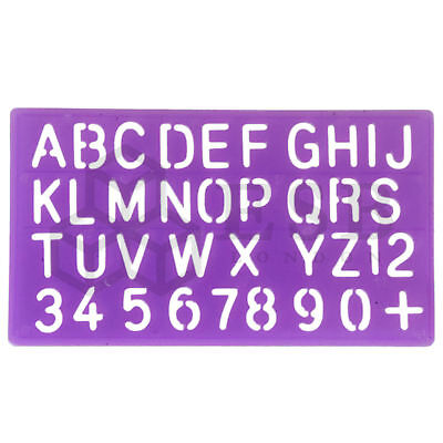 Alphabet Stencil Set Large Letters Numbers Kids Children Craft Text ~ 25Mm