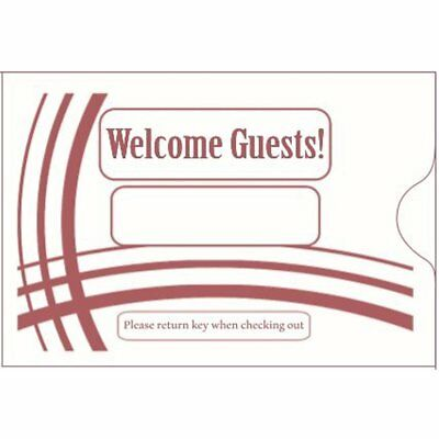 """Keycard Envelope / Sleeve """" Welcome Guests"""" 2-3/8"""" X 3-1/2"""" 500CT- ItemKCB238B"""