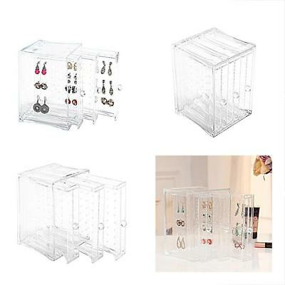 JEWELRY ORGANIZER Rack Clear Acrylic 3 Vertical Drawers Earring