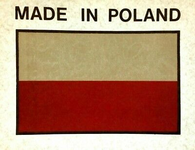 'Made in Poland' Flag Vintage T-Shirt Transfer Circa 70's/80's