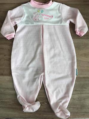 Vintage little me girls pink footed pjs sleeper play sleep coverall Size 9 month