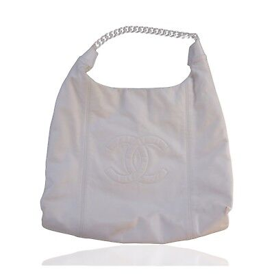 a7dbbe93fc1 CHANEL SOFT   Chain Lambskin Leather Ivory Hobo Bag -  1,001.25 ...