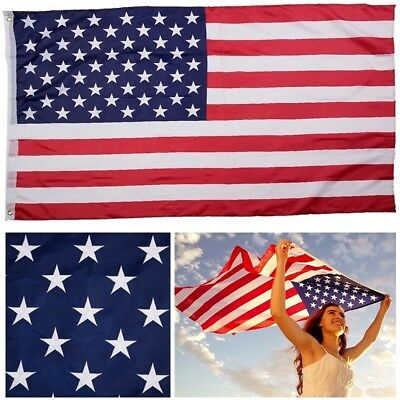 3'x 5' FT American Flag U.S.A U.S. United States Stripes Stars Brass Grommets US