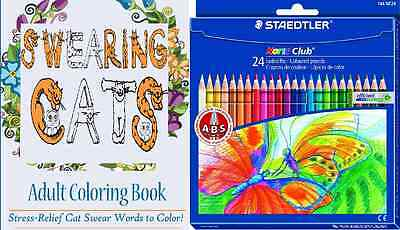 Swearing Cats Adult Coloring Pack