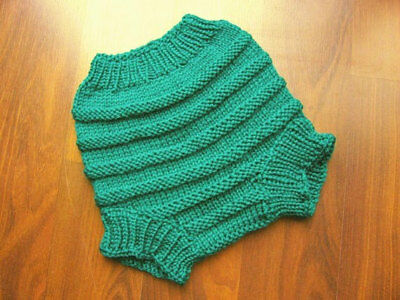 Hand Knitted Handmade Wool Cloth Diaper Cover baby cover size Medium 6 -12 month