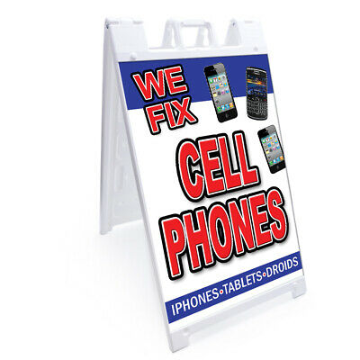 """A-frame Sidewalk Air Conditioning Repair /& Service Sign Double Sided 18/"""" X 24/"""""""