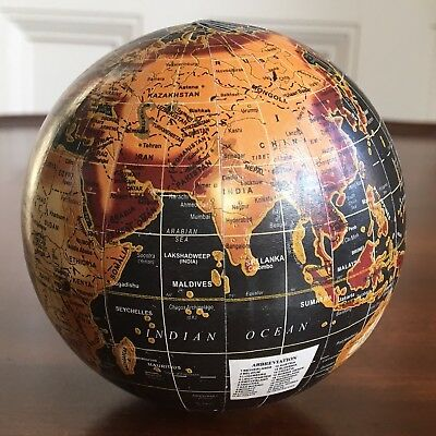 An Antique Style Pocket World Globe, 8.5cm Wide.