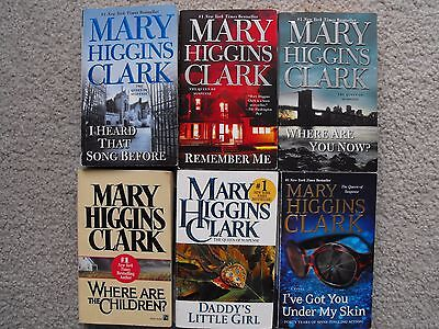 Lot of 6 Paperbacks by Mary Higgins Clark - Remember Me, I Heard That Song +4