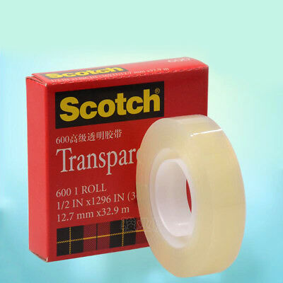 """Scotch 3M Clear Transparent Tape 1/2""""&3/4"""" x 1296"""" for Wrapping Sealing Mending"""