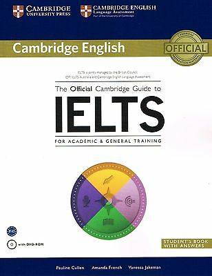 The Official CAMBRIDGE GUIDE TO IELTS Student's Book with Answers +DVD @New 2014