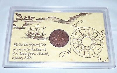 186 Year-Old Shipwreck Coin from the Admiral Gardner