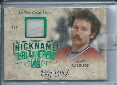 2017-18 2018 Leaf ITG Used Nickname Hall of Fame LARRY ROBINSON Jersey 3/4 Green